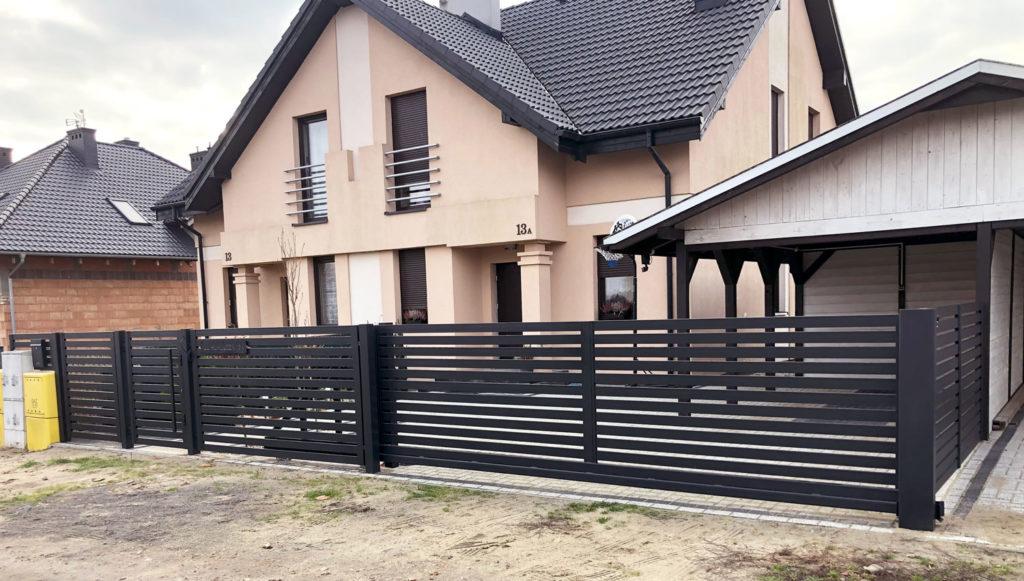 Kolejna realizacja brama przesuwna, furtka wraz z ogrodzeniem