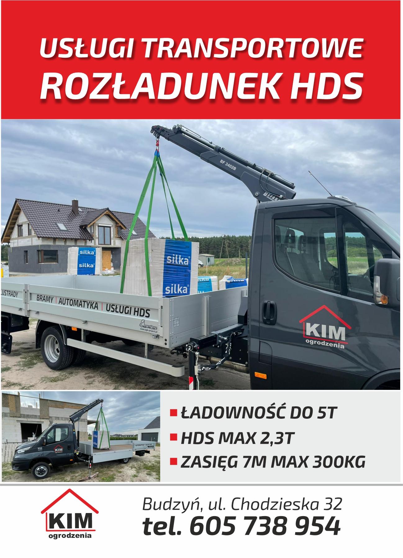 Usługi transportowe z rozładunkiem HDS - Chodzież, Piła, Margonin, Szamocin, Oborniki, Szamotuły, Poznań, Czarnków, Trzcianka